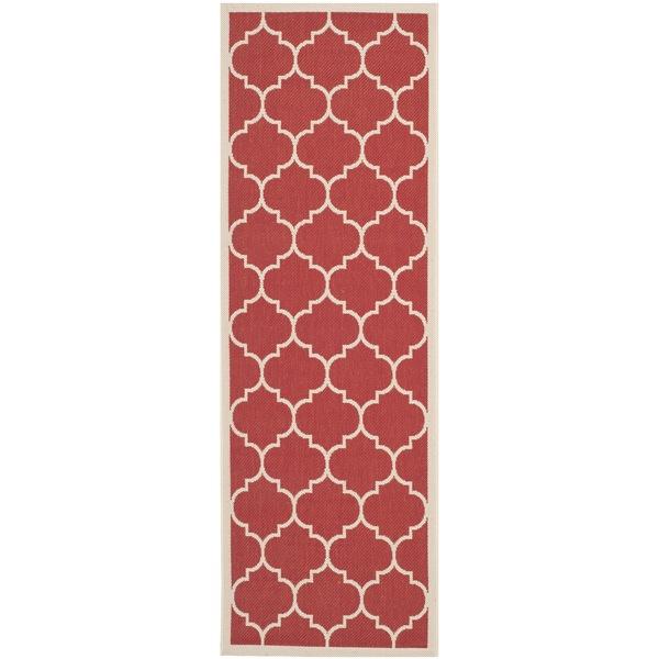 Shop Safavieh Courtyard Moroccan Pattern Red Bone Indoor