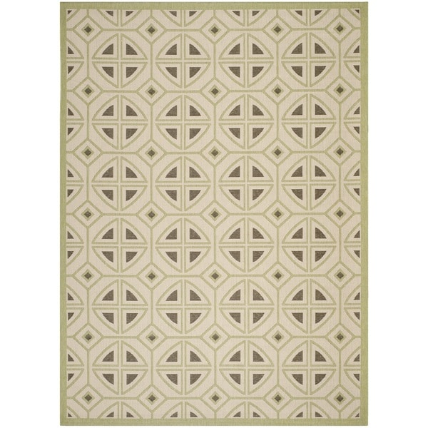 Safavieh Indoor/ Outdoor Courtyard Beige/ Sweet Pea Rug - 8' x 11'