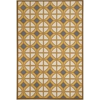 Safavieh Hampton Indoor/ Outdoor Stain Resistant Camel/ Ivory Area Rug (6'7 x 9'6)