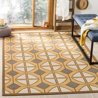 Safavieh Hampton Indoor/ Outdoor Stain Resistant Camel/ Ivory Area Rug - 6'7 x 9'6