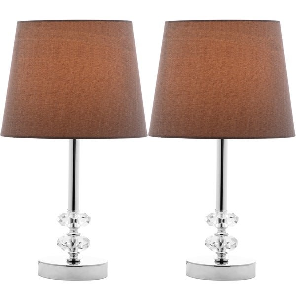 lighting 16 inch ashford grey shade crystal orb table lamp set of 2. Black Bedroom Furniture Sets. Home Design Ideas