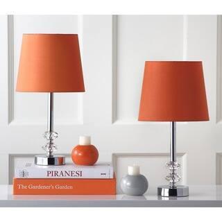 Safavieh Lighting 16-inch Ashford Orange Shade Crystal Orb Table Lamp (Set of 2)|https://ak1.ostkcdn.com/images/products/8353102/P15662356.jpg?impolicy=medium