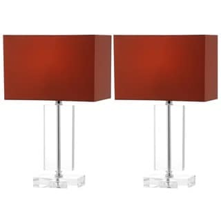 Safavieh Lighting 15.75-inch Art Brown Shade Moderne Crystal Table Lamp (Set of 2)