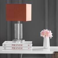 Safavieh Lighting 15.75-inch Art Brown Shade Modern Crystal Table Lamp (Set of 2)