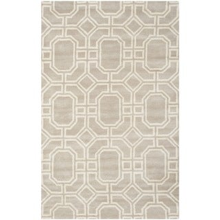 Safavieh Handmade Soho Grey/ Ivory New Zealand Wool/ Viscose Rug (5' x 8')