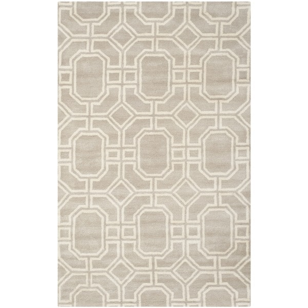 Safavieh Handmade Soho Grey/ Ivory New Zealand Wool/ Viscose Rug - 5' x 8'