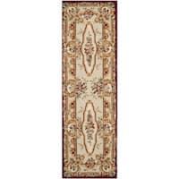 "Safavieh Handmade Savonnerie Gold Wool Rug - 2'6"" x 12'"