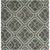 Safavieh Handmade Soho Grey New Zealand Wool/ Viscose Rug - 6' X 6' Square