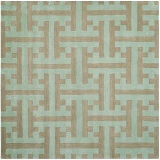 Safavieh Handmade Soho Light Blue New Zealand Wool/ Viscose Rug (6' Square)