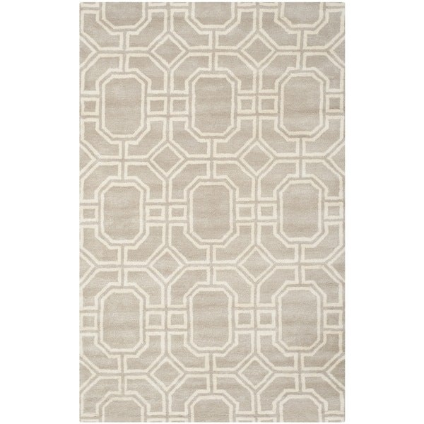 Safavieh Handmade Soho Grey/ Ivory New Zealand Wool/ Viscose Rug - 7'6 x 9'6