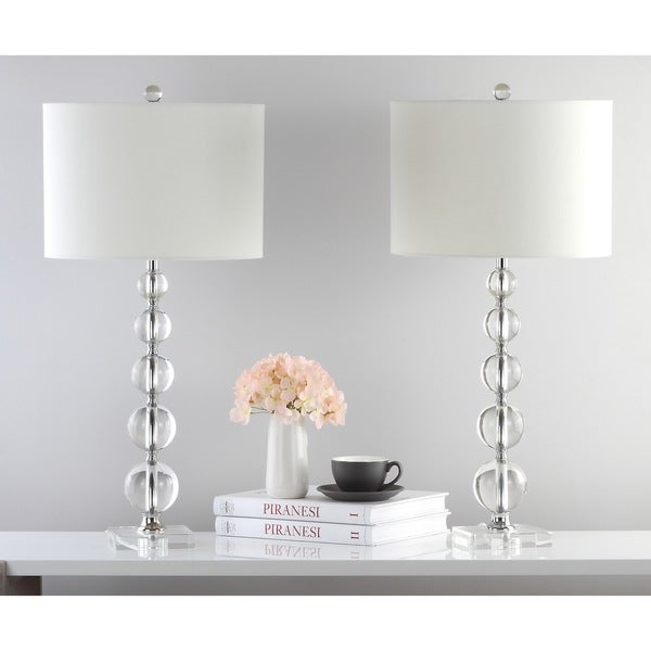 Shop Safavieh Lighting 29 Inch Liam White Shade Stacked