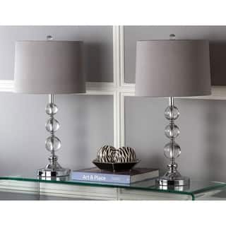Safavieh Lighting 27-inch Keeva Grey Shade Crystal Ball Table Lamp (Set of 2)|https://ak1.ostkcdn.com/images/products/8353201/P15662217.jpg?impolicy=medium