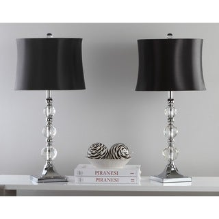 Safavieh Lighting 28-inch Maeve Black Shade Crystal Ball Table Lamp (Set of 2)