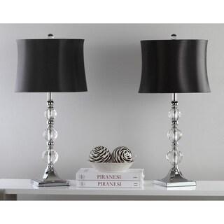 Safavieh Lighting 28-inch Maeve Black Shade Crystal Ball Table Lamp (Set of 2)|https://ak1.ostkcdn.com/images/products/8353202/P15662218.jpg?_ostk_perf_=percv&impolicy=medium