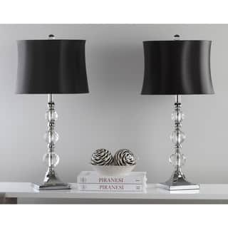 Safavieh Lighting 28-inch Maeve Black Shade Crystal Ball Table Lamp (Set of 2)|https://ak1.ostkcdn.com/images/products/8353202/P15662218.jpg?impolicy=medium