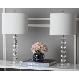 Safavieh Lighting 24-inch Victoria White Shade Crystal Ball Table Lamp (Set of 2)|https://ak1.ostkcdn.com/images/products/8353207/P15662223.jpg?impolicy=medium