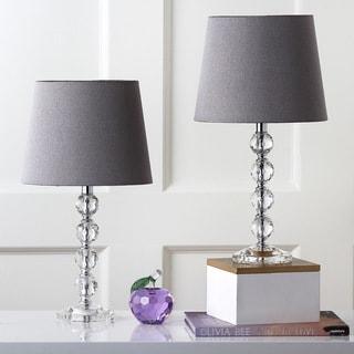 Safavieh Lighting 16-inch Nola Grey Shade Stacked Crystal Ball Table Lamp