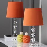 Safavieh Lighting 15.8-inch Dylan Orange Shade Tiered Crystal Orb Table Lamp (Set of 2)