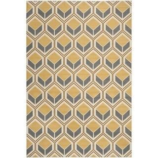 Safavieh Hampton Indoor/ Outdoor Stain Resistant Ivory/ Camel Area Rug (8' x 11')