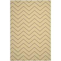 Safavieh Hampton Indoor/ Outdoor Stain Resistant Green/ Ivory Area Rug - 8' X 11'