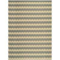 Safavieh Hampton Indoor/ Outdoor Stain Resistant Green/ Light Blue Area Rug - 8' x 11'