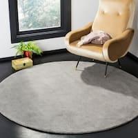 Safavieh Handmade Himalaya Grey Wool Rug - 6' Round