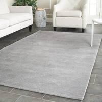 Safavieh Handmade Himalaya Grey Wool Rug - 8' Square