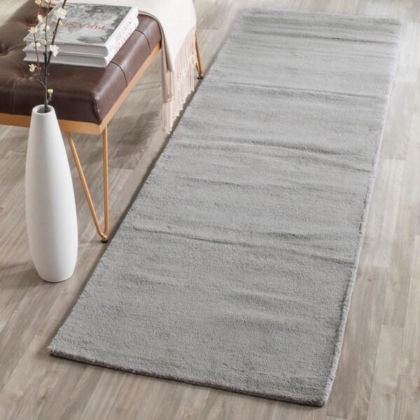 Safavieh Handmade Himalaya Solid Grey Wool Runner Rug (2'3 x 12')