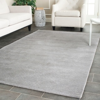 Safavieh Handmade Himalaya Solid Grey Wool Rug (9' x 12')