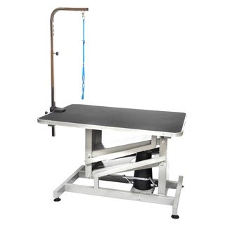 Z-lift Hydraulic Professional Black Aluminum Steel Pet Grooming Table