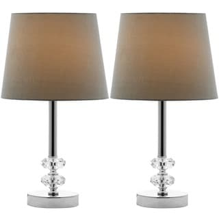 Safavieh Lighting 16-inch Ashford Green Shade Crystal Orb Table Lamp (Set of 2)