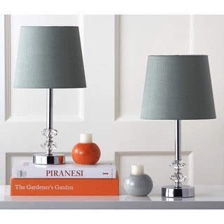 Safavieh Lighting 16-inch Ashford Green Shade Crystal Orb Table Lamp (Set of 2)