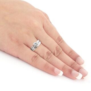 Auriya 14k White or Yellow Gold 1 1/2ct TDW Certified Diamond Bridal Set (H-I, SI1-SI2)