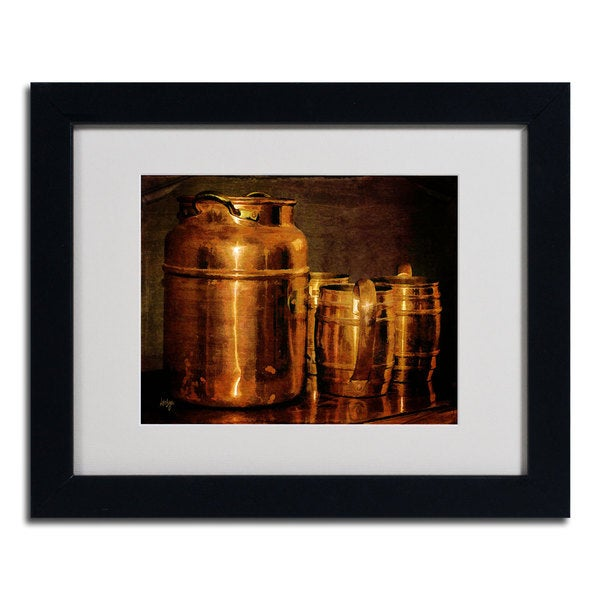 Lois Bryan 'Copper Jugs' Framed Matted Art