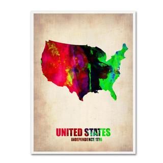 Naxart 'United States Watercolor Map' Canvas Art