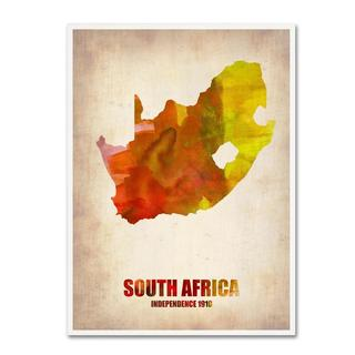 Naxart 'South Africa Watercolor Map' Canvas Art