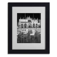 Moises Levy 'Chairs In San Marco' Framed Matted Art