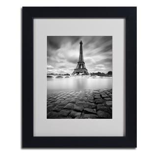 Moises Levy 'Eiffel Tower Study I' Framed Matted Art