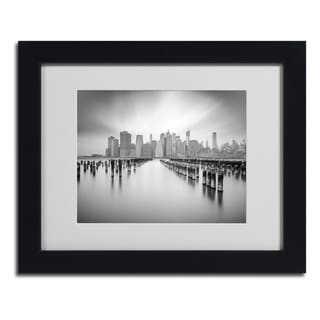 Moises Levy 'NYC 1' Framed Matted Art