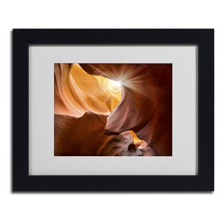 Moises Levy 'Searching Light III' Framed Matted Art