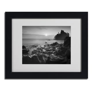 Moises Levy 'Sunset At Ruby Beach' Framed Matted Art