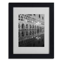 Moises Levy 'Venetia Reflection' Framed Matted Art