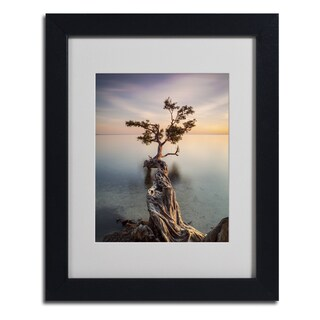 Moises Levy 'Water Tree III' Framed Matted Art