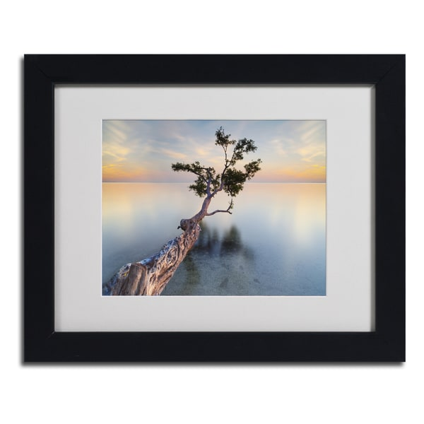 Moises Levy 'Water Tree XIV' Framed Matted Art