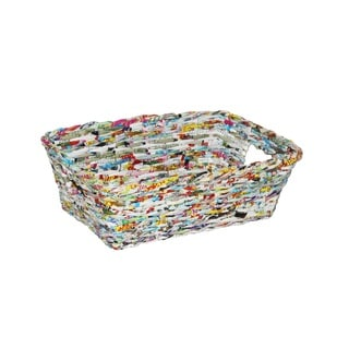 Set of 12 Multicolored Round Single Recycle Baskets