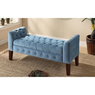 Link to Copper Grove ArumVelvet Tufted Storage Bench / Settee Similar Items in Living Room Furniture