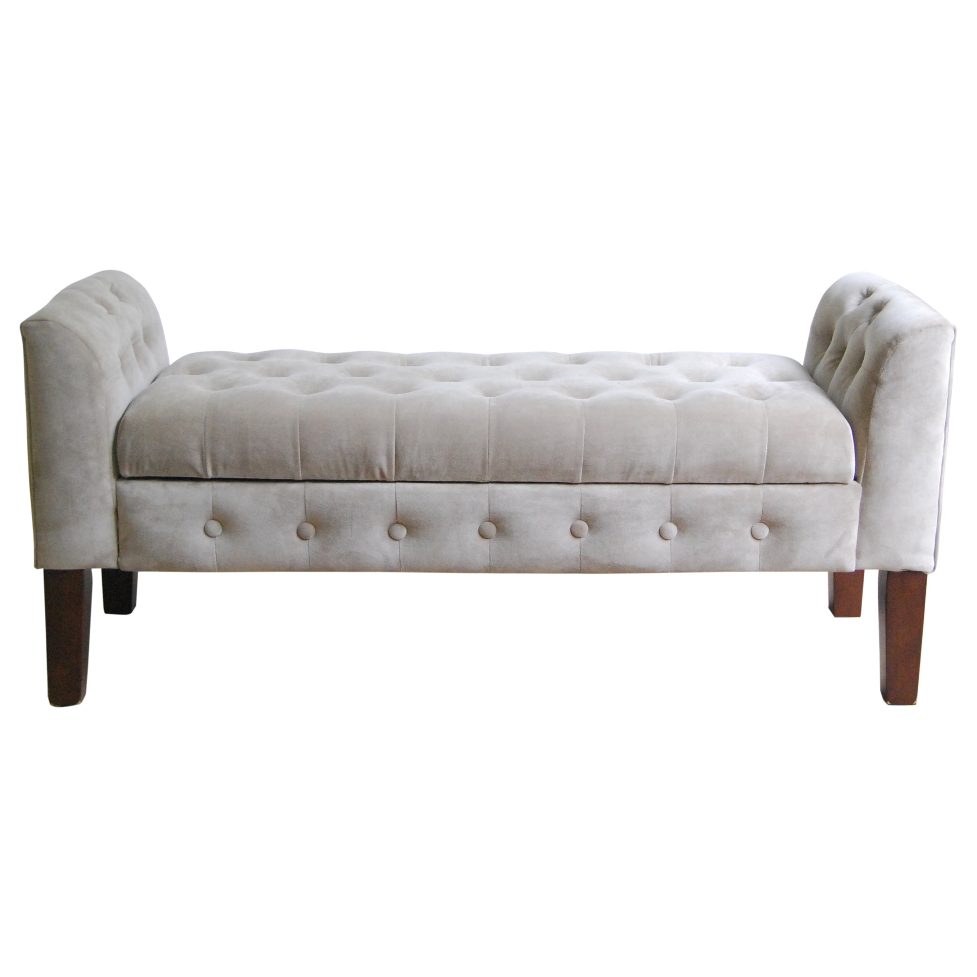 HomePop Tufted Velvet Storage Bench Settee