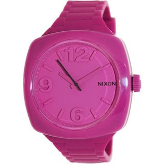 Nixon Women's Dial Pink Silicone Quartz Watch with Pink Dial