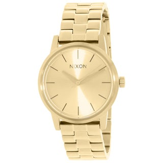 Nixon Women's Kensington Gold Stainless Steel Quartz Watch with Gold Dial