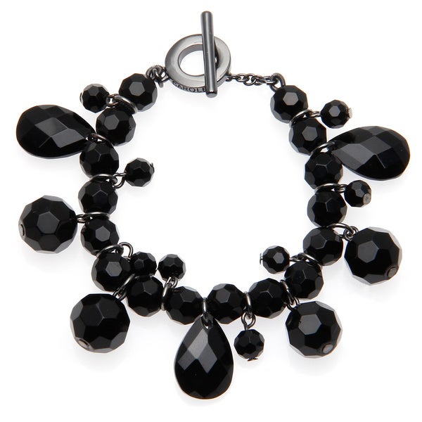 Carolee Black Crystal Charm Bracelet